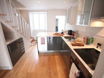 Photo for Fully renovated coastguard cottage with views of the sea and the Cobb