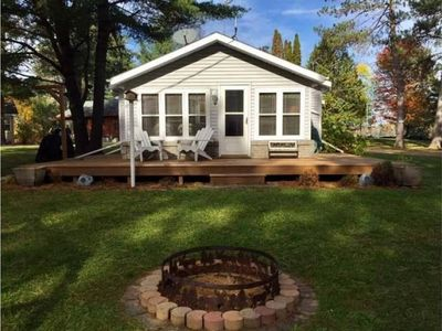 Photo for Lake Shishebogama Minocqua waterfront home away from home-WiFi, peaceful sunsets