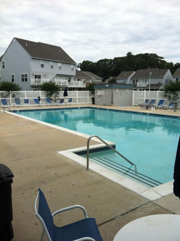 Relax At Our Pool Just Steps Away Bring Your Raft