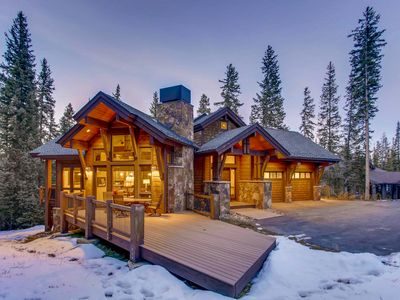 Photo for Walk to Peak 8 in 7 minutes; Beautiful Mountain Lodge with Hot Tub & Privacy!