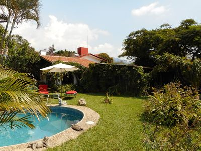 The guesthouse - from the pool site
