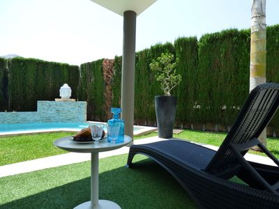 Photo for Wonderful private villa for 5 people with WIFI, A/C, private pool, TV and parking