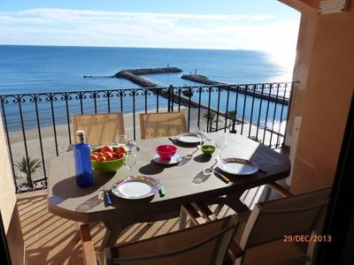 Photo for Alboraya: Appartment in Portsaplaya on the beach front with fantastic view of the seaLuxury Apartment(Help)