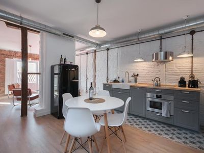 Photo for Madrid lives, cozy and luxury experience in modern apartment built in 1860