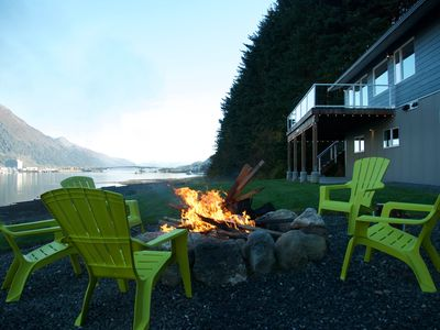 Photo for Beach Condo Juneau - Upper Level - An Amazing 180˚ View of the Channel!