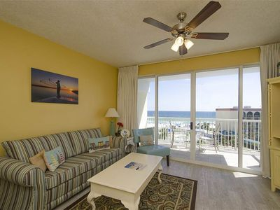 Photo for Beachfront Condo Overlooks Pool w/ Lazy River Lagoon Pool