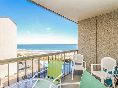 Photo for G612: 2BR+den Sea Colony oceanfront condo! Private beach, pools, tennis & more!
