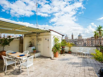 Photo for Apartment 276 m from the center of Rome with Internet, Air conditioning, Lift, Terrace (638977)