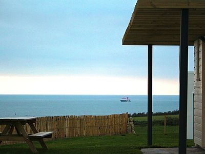 Photo for Holiday house, at the edge of the coast, beautiful view, follow the boats ....