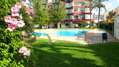 Photo for NEW. IN THE CENTRE OF NERJA WITH ELEVATOR. POOL, GARDENS. AIR CONDITIONING, WIFI
