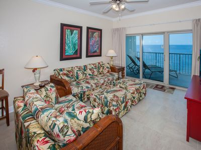 Photo for Gorgeous views, great amenities, gulf side pool/lazy river! Affordable & clean!