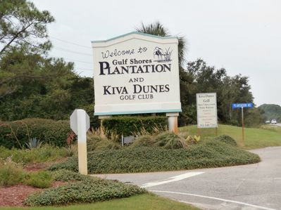 Entrance to Plantation Dunes off of Highway 180