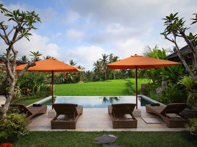 Photo for Special price! Luxury 4 BR Villa in ricefields w/pool, 10m walk to Ubud