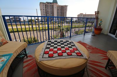 Enjoy a Game of Checkers While Gazing at the View