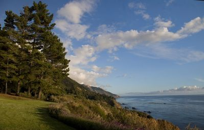 View down the south coast of Big Sur from our lawn & cliff edge at cottage