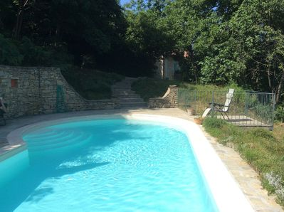 View towards house from pool