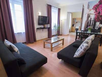 Photo for M4 apartment in Stare Miasto with WiFi & air conditioning.