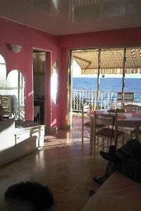 Photo for Studio with terrace, direct access to the beach, for 4 people, fully equipped.