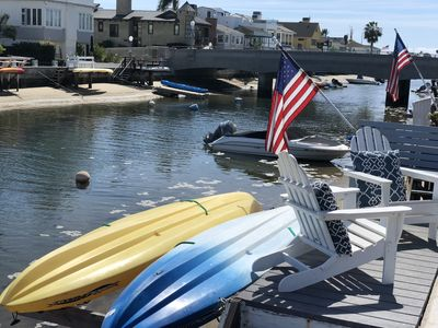 Photo for Balboa Cottage on the Waterfront!  Dock with kayaks and bikes!!