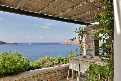 Amazing seaview from the spacious terrace