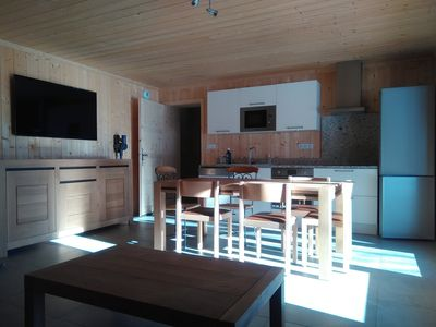 Photo for GREAT COMFORT APARTMENT ON THE GROUND OF A CHALET - AT THE FOOT OF THE SLOPES - 6 PEOPLE