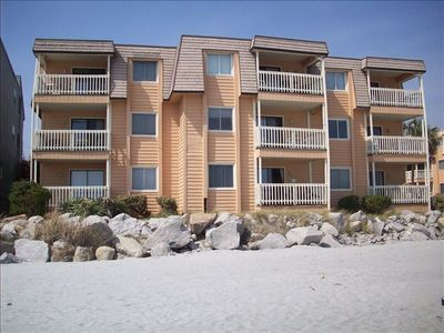 View of Unit 315 from its Spectacular Sandy Beach