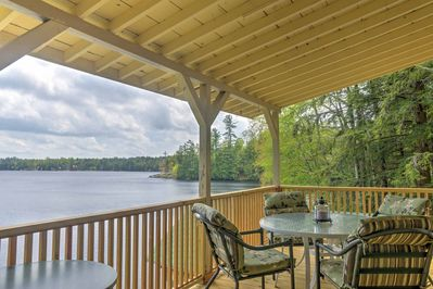 Watch the sunset over the lake from the comfort of the deck.