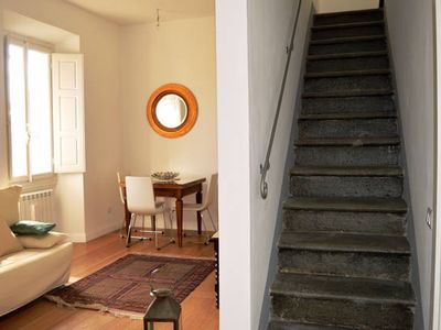 Photo for air conditioning & wifi free, small romantic terrace - near ACCADEMIA GALLERY