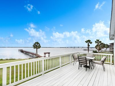 Photo for Big Water Views. Waterfront Home, Bring Your Boat Marina, Pet friendly, fenced
