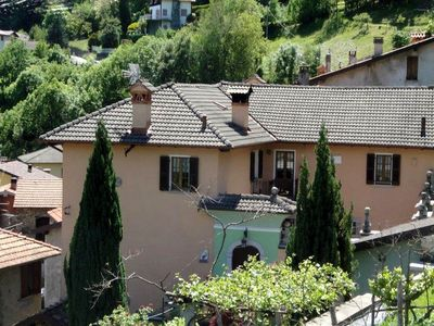Photo for 5km from Menaggio, with large, equipped garden and gorgeous view on the lake.