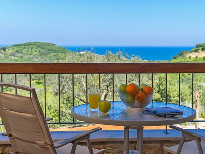 Photo for Villa on a quiet hill slope, private pool, close to sandy beaches & Chania town