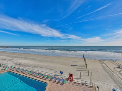 Photo for Dog friendly, two oceanfront condos with shared pool, beach access & free WiFi!