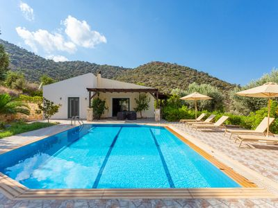 Photo for Villa Dimitrios: Large Private Pool, Sea Views, WiFi, Eco-Friendly