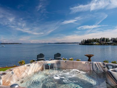 Photo for Spectacular Waterfront - Hot Tub - Theatre - Outdoor Shower - Steps to Beach