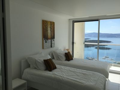 Stunning views of the Marina from the bedroom
