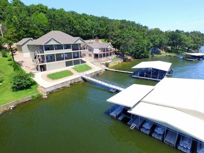 Photo for Family Fun Lakefront Vacation Home #9 of 12, 7Bd, sleeps 27+, 4900sf, Dock 3000s