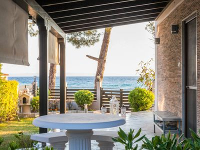 Photo for Luxurious maisonette in front of the beach promises unforgettable vacations
