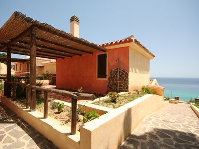 Photo for Residence Monte Nai Bellavista Trilo E with air conditioning 600 meters from the sea