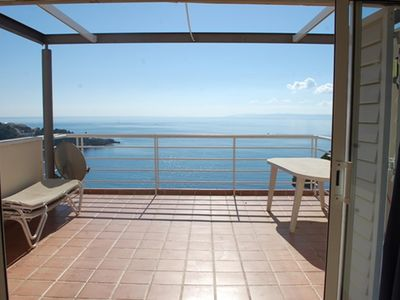 "Photo for Magnificent duplex, large terrace overlooking the fantastic beach ""Almadrava"""