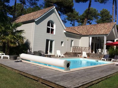 Photo for Villa 4 * in peace, on 27 hole golf course, heated pool, beaches: lake, ocean,