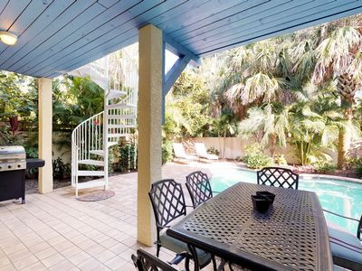 Photo for Charming family-friendly island home w/private pool, hot tub, & close to it all!