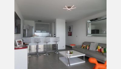 Photo for MAGNIFICENT APARTMENT ALL COMFORT SEA VIEW TERRACE 22 M² GARAGE