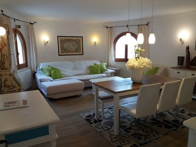 Photo for Luxury apartment downstairs in villa, seaview,pool,airco,sky,wifi