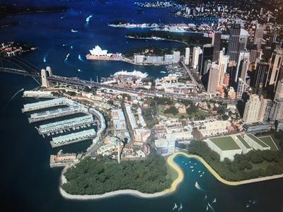 Barangaroo Harbourside Park - we are right across the street   !