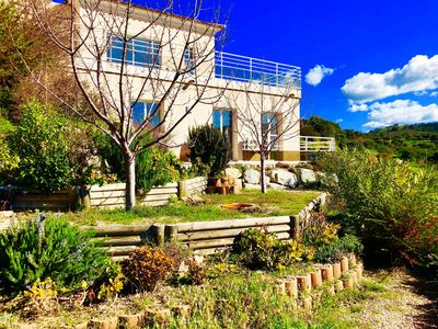 Photo for Beautiful T2 on the ground floor with pool in Alata in southern Corsica