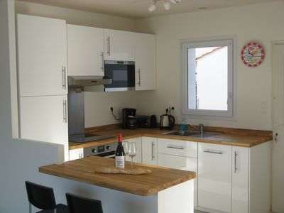 Ikea fitted kitchen with Breakfast bar