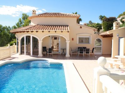 Photo for Villa, La Sella, sleeps 8, private pool, air con, wifi, fab view, cleaning inclu