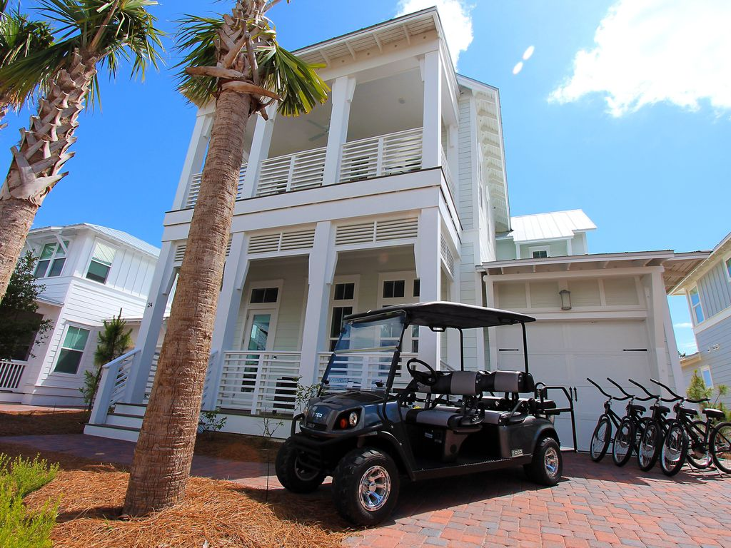 6 Seater Golf Cart ~ 2,800+ Sq Ft! 4 Bikes 2 KING Suites ~ Blue Sky on sky candles, sky sunglasses, sky bags, sky wheels, sky games, sky comedy, sky cars, sky lifts,