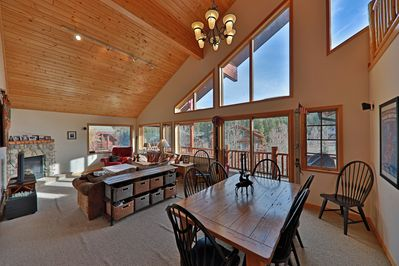 Slopeside Condo 97 Clover Lane - a SkyRun Winter Park Property - Vaulted ceilings with lots of light in Large Common Room