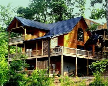 Photo for The Ashryn Lodge a Magnificent Mountain Cabin w/Panoramic Mountain Views
